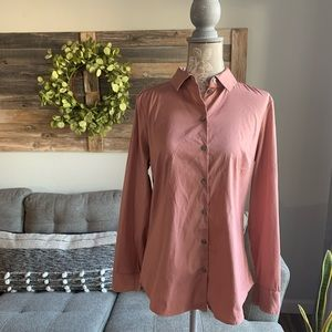 Express Ultimate Essential Fitted Shirt -Rose